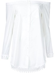 Derek Lam 10 Crosby Off Shoulder Shirt White