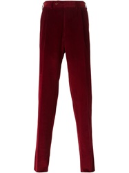Canali Corduroy Trousers Red