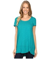 Mod O Doc Slub Jersey Short Sleeve Scoopneck Tee Dark Jade Women's T Shirt Green