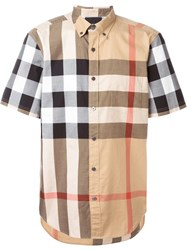 Burberry Brit Checked Shortsleeved Shirt Nude And Neutrals