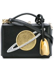 Mark Cross 'Planet Cut Out' Clutch Black