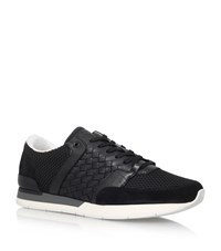 Bottega Veneta Woven Leather Running Shoes Male Black