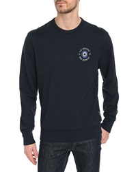 Ben Sherman Mottled Navy Logo Chest Sweatshirt