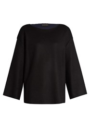 The Row Marine Wool Blend Sweater Black