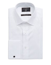 Black Brown Fitted Dress Shirt White