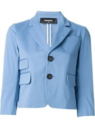 Dsquared2 Cropped Blazer Blue