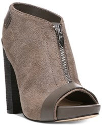 Fergie Rowley Peep Toe Booties Women's Shoes Grey