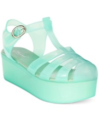 Wanted Jellypop Flatform Jelly Sandals Women's Shoes Lime