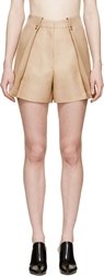 Acne Studios Camel High Waisted Marsielle Shorts