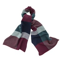 Thomas Pink Askew Check Wool Cashmere Scarf Deep Green Blue