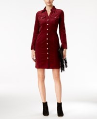 Inc International Concepts Corduroy Shirtdress Only At Macy's Red Shadow