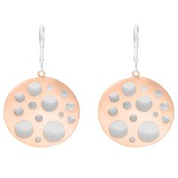 Dana Bronfman Hollow Coin Earring Rose Gold And Sterling Silver