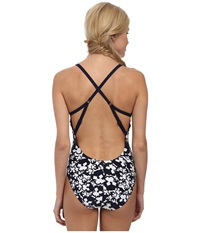 Lole Noumea One Piece Amalfi Blue Pansy Women's Swimsuits One Piece Black