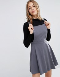 Asos Pinafore Dress Charcoal Grey
