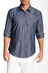 Zachary Prell Piccurillo Long Sleeve Shirt Blue