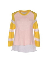 Relive Short Sleeve Sweaters Pink