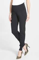Japanese Weekend Maternity Jogger Pants Black