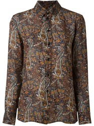 Saint Laurent Paisley Print Shirt Multicolour