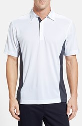 Men's Cutter And Buck 'Willows' Colorblock Drytec Polo White Onyx
