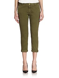 Current Elliott Cropped Cotton Pants Army Green