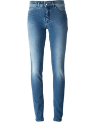 Mm6 By Maison Martin Margiela High Waist Skinny Jeans Blue