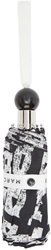Marc By Marc Jacobs Black And White Stacked Logo Umbrella