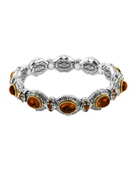 Konstantino Cognac Quartz And Citrine Bangle With 18 Karat Gold