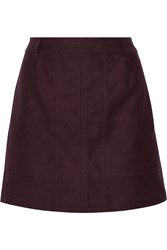 Tomas Maier Brushed Cotton Mini Skirt Red