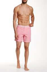 Parke And Ronen 6' Corfu Solid Swim Trunk Pink