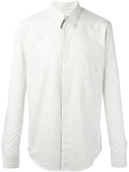 Christophe Lemaire Striped Button Down Shirt Nude Neutrals