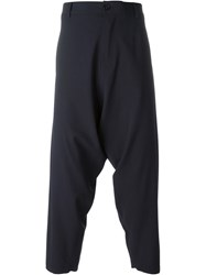 Socia Ta Anonyme 'Bomb' Drop Crotch Trousers Blue