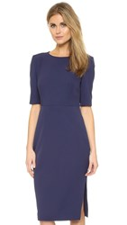 St Olcay Gulsen Tailored Drape Dress Evening Blue