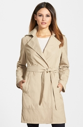 Ellen Tracey Relaxed Trench Coat Regular And Petite Pearl