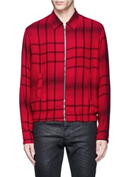 Mcq By Alexander Mcqueen Tartan Plaid Blouson Jacket Red Multi Colour