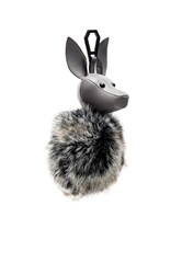 Kendall Kylie Bambi Faux Fur Dog Charm Gray