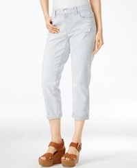 Tommy Hilfiger Cropped Striped Jeans Navy White
