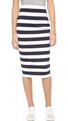 The Fifth Label City Safari Skirt Navy And White Stripe