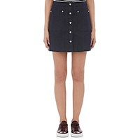 Rag And Bone Women's Siri A Line Miniskirt Navy Blue Navy Blue