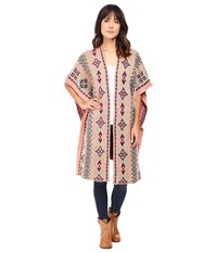 Rock And Roll Cowgirl Poncho 46 8457 Taupe Women's Clothing