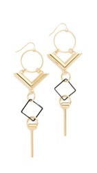 Adia Kibur Sage Earrings Gold Black
