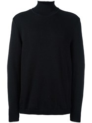Stephan Schneider Rib Knit Turtleneck Jumper Black