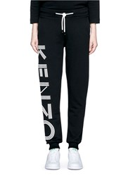 Kenzo Logo Print Cotton Sweatpants Black
