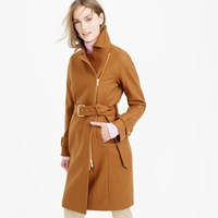 J.Crew Petite Belted Zip Trench Coat In Wool Melton