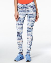 Material Girl Active Juniors' Printed Leggings Only At Macy's Denim