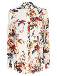 Warehouse Summer Floral Shirt Cream