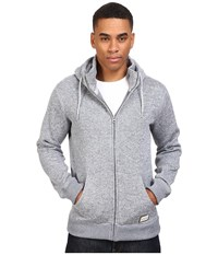Quiksilver Keller Polar Fleece Zip Up Sweatshirt Light Grey Heather Men's Sweatshirt Gray