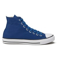 Converse Men's Chuck Taylor All Star Coated Canvas Wash Hi Top Trainers Blue Jay Black White Blue Black White