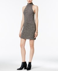 Bar Iii Turtleneck Sweater Dress Only At Macy's Black Combo