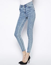Just Female Ankle Skinny Jeans Blue