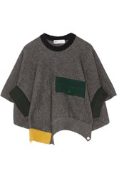 Toga Ribbed Wool Poncho Dark Gray